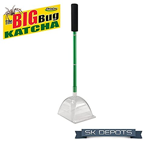 Katcha® The BIG BUG Katcha™ - Traps 'em all BIG & SMALL - Traps Spiders, Wasps, Scorpions, Cockroaches, Flies, Stink Bugs, Mice, Frogs, Geckos & More at arms length - No Poisons - No Mess - No More Spiders! - Ultimate Spider Catcher