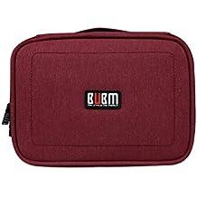 BUBM estuche de viaje impermeable para digital cable de datos USB organizador electrónica y accesorios Bolsa de almacenamiento Junta rojo Red