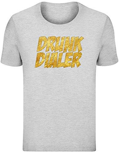Drunk Dialer T-Shirt für Männer - 100% Weiche Baumwolle - Benutzerdefinierte Bedruckte Herrenbekleidung Mens T-Shirt Top Unisex XX-Large