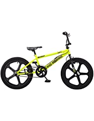 Rooster Big Daddy 20 BMX Yellow/Big Black with Skyway Mag Wheels (Yellow, Black)
