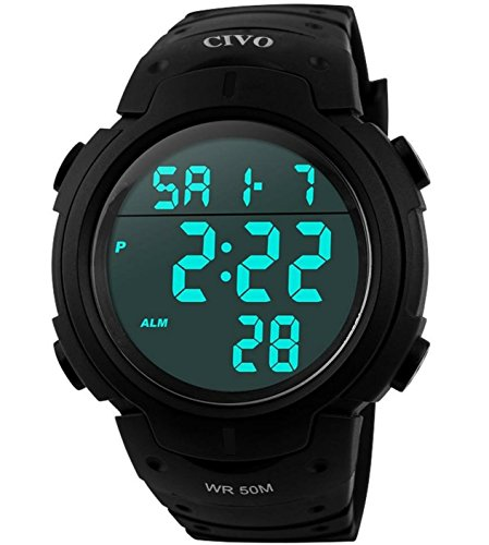 Mens-Sport-Watch-by-CIVO-Multifunctional-Military-Waterproof-Simple-Design-Big-Numbers-Digital-LCD-Screen-Casual-Watch-with-Microfiber-Bonus