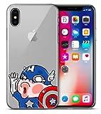 Art-design Coque iPhone XR Captain America Marvel Mignon Silicone Souple