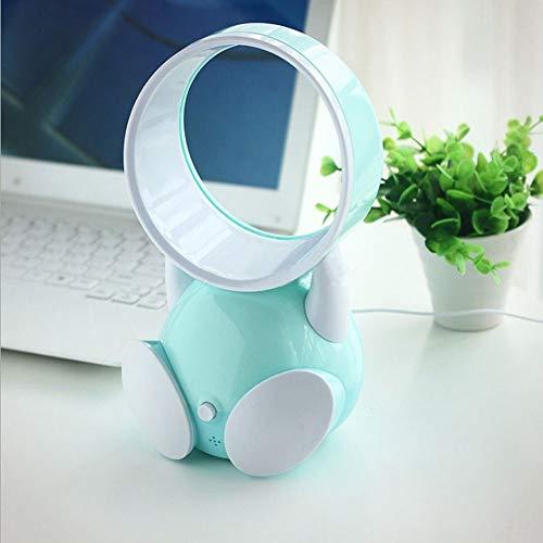 QTRT USB-Mini-blattloser Kühlventilator, tragbare Klimaanlage-persönlicher Lüfter-Heizkörper mit Karikatur-stillem Betrieb für Arbeit und Studie Schlaf-Ausgang im Freienbüro