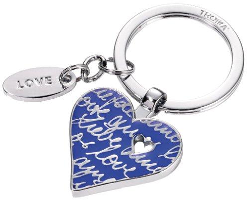 troika-portachiave-lovely-heart-blu-con-pendaglio-love