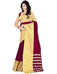Sr Cotton Saree With Blouse Piece (_Red_Free Size)