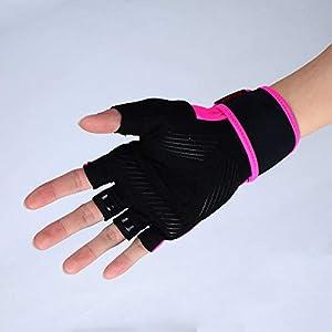 RFGHATG Men and Women Training Wrist Half Finger Gloves Breathable Non-Slip Sports Fitness Gloves