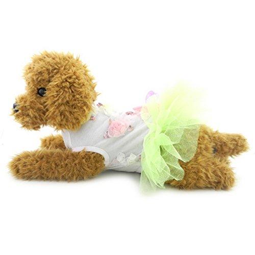 ranphy Kleiner Hund/Katze Prinzessin Tutu Kleid Party Röcke mit Schleife Hund Formale Plissee Kleid Haustier - Tutu Couture Kostüm