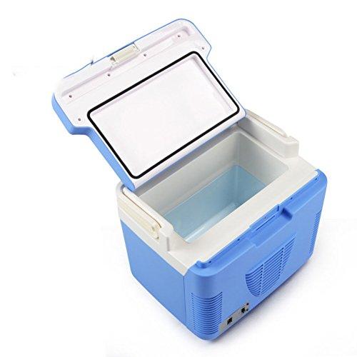 SL&BX 10l doppel kühlung minikühlschrank,Mini kleine Heimat einzeltür Schlafzimmer kosmetische Maske Auto schlafsäle Mini kühlschrank-Blau 28x15x22cm(11x6x9inch) -