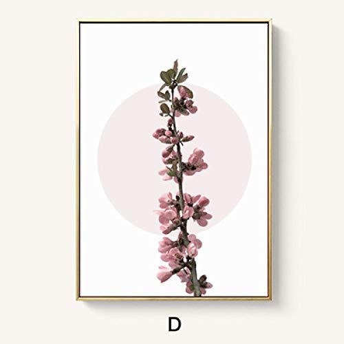 zlhcich Nordic Wohnzimmer Dekoration einfache esszimmer malerei Studie rosa malerei Schlafzimmer Nacht Blume D 40 * 60