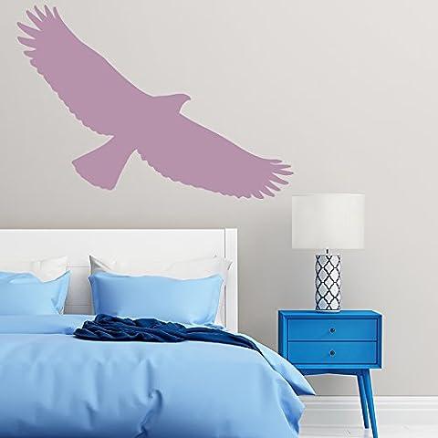 Falke Fliegende Silhouette Vögel und Federn Wandsticker Heim Dekor Art Decals verfügbar in 5 Größen und 25 Farben Extraklein Rose Rosa