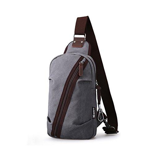 Anjcd Männer Chest Pack Baumwolle Segeltuch Schultertaschen Freizeit Messenger Bag Bewegung Kleine Rucksack 2#