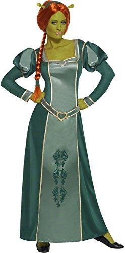 Fiona Disney Prinzessin Lange Volle Länge Fantasie Kostüm Outfit - Grün, 44-46 (Shrek Prinzessin Fiona Kostüme)