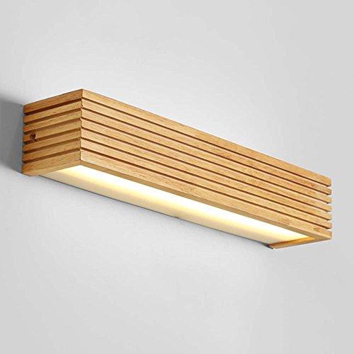 FUFU European-style LED Holz Kunst Wandlampe Nordic Treppe Gang Badezimmer Spiegel vorne Schlafzimmer Bedside Wandlampe (Optionale Größe) (größe : 35cm) -