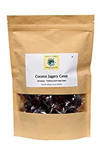 iFarmerscart Coconut Jaggery Candy | Kamarkat Kalkona - (400 GMS | 60 Pcs)