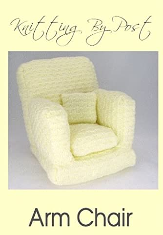 Knitting Pattern Arm Chair for Doll or Teddy
