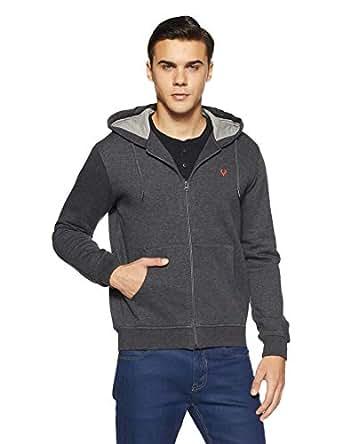 Allen Solly Men's Sweatshirt (ASSTORGPL62407S_Anthra Melange VMBK30)