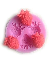 Auket Mold fruits Strawberry Cake Fondant savon sucre Artisanat décoration de gâteau en silicone #110 (3DMold-110)