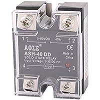 sourcingmap® ASH-40DD 3-32VDC a 5-60VDC 40A unica Fase Relé de estado sólido DC-DC