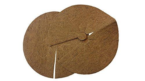 Protection plantes disque de paillage en fibres, coco disque protection d'hiver pour plantes en pot 45 cm – 2 pièces