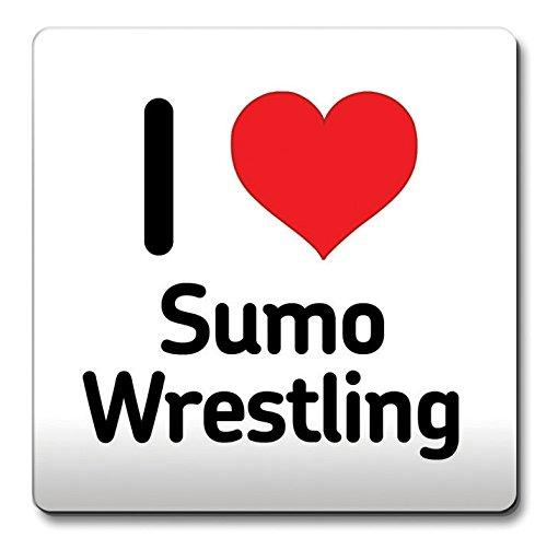 I love Sumo Wrestling Untersetzer Herz Geschenk Idee Weihnachten Funny Kaffee (Wrestling-kaffee)