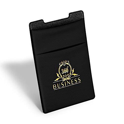 martphone Kreditkartenhalter Schwarz Geldbörse Zubehör Klebende Handyhülle Phone Kartenhülle Handytasche Ausweis Kreditkarte ()