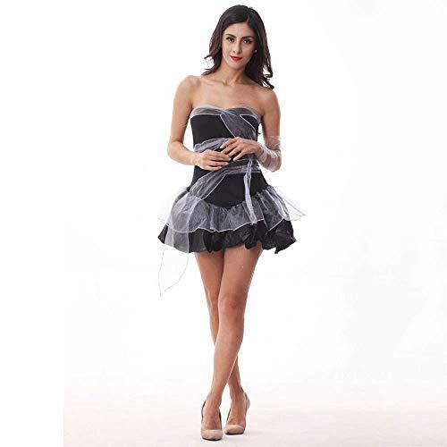 Fashion-Cos1 Frauen Braut Scary Cosplays Halloween Kostüme Hexe Zombie Prinzessin Karneval Maskerade Party Kleid (Zombie Prinzessin Halloween Make-up)