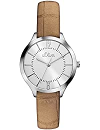 s.Oliver Damen-Armbanduhr Analog Quarz Leder SO-3122-LQ