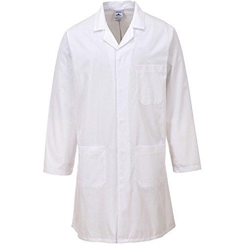 Lange Ärmel Kleidung Ärzte Medizinische Labor Mantel (M, Weiß) ()