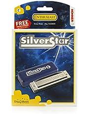 Hohner Silver Star M50401X C-Harmonica, Silver