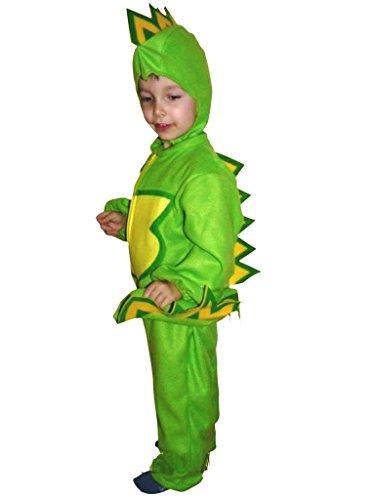 Drachen-Kostüm, F01 Gr.110-116, für Kinder, Drache Kind Drachen-Kostüme für Fasching Karneval, Kleinkinder-Karnevalskostüme, Kinder-Faschingskostüme, Geburtstags-Geschenk Weihnachts-Geschenk