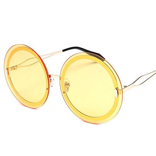 Sunyan Eine Dame neue Sonnenbrillen Sonnenbrillen Männer Korea metal star Trendsetter3335 tide Persönlichkeit, goldene Rahmen night vision - Korea Männer Sonnenbrillen