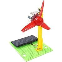Homyl DIY Modelo de Ventilador Eléctrico Ciencia Juguete Física Experimento Estudiante Montar Juguete - C
