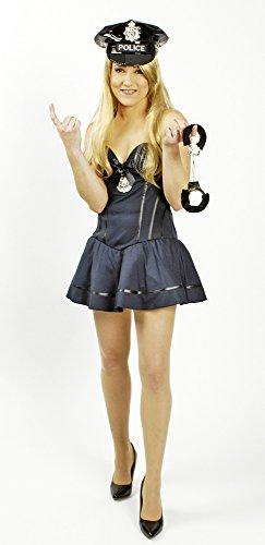 Sexy Police Girl Polizistin Kostüm für Damen Gr. 34 für Karneval, Halloween oder Junggesellenabschied (Police Girl Kostüm Für Halloween)
