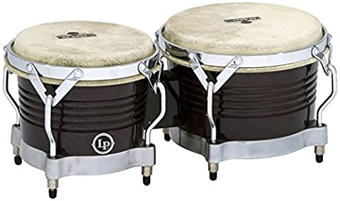 Latin Percussion LP811012 Matador Wood Bongos - Black/Chrome