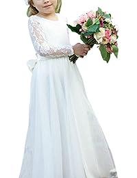 HotGirls Fancy Girls Lace Dress Maniche lunghe Primi abiti da comunione per  bambini 77192bc05a0
