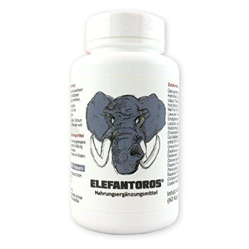 Potenz verbessern mit L-Arginin Cordyceps Maca Muira Puama Goji Ginseng Yams   Elefantoros   30 Tage-Vorrat   Deutsche Qualität