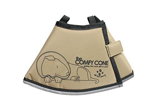 ALL FOR PAWS Halskragen COMFY CONE Halstrichter für Hunde und Katzen braun, S