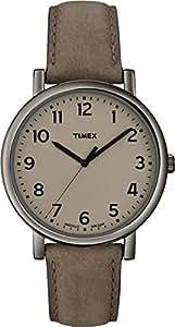 Timex - Unisex - T2N957D7 - Style - Quartz Analogique - Marron - Marron - Cuir