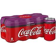Coca-Cola Zero Sugar Cherry, 330 ml, Pack of 8