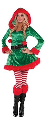 erdbeerloft - Damen Weihnachtliches Kostüm, Elfe, Weihnachtshelferin, Grün, Größe ()