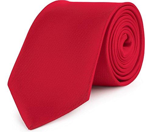 Ladeheid cravatta classica uomo kp-8 (150cm x 8cm, rosso scuro)