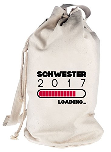 Geschenkidee bedruckter Seesack Umhängetasche Schultertasche Beutel Bag Schwester 2017 Loading... Natur