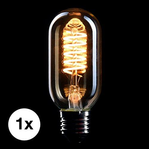 CROWN LED Edison Glühbirne E27 Fassung, Dimmbar, 4W, Warmweiß, 230V, EL06, Antike Filament Beleuchtung im Retro Vintage Look