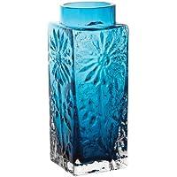 Dartington Crystal Marguerite Small Vase, Teal