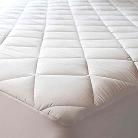 Super King Quilted Mattress Protector Cover Extra Deep All Uk Sizes Single,Small Double,Super King ,4ft,Three Quarter (Quilted Mattress Protector, Super