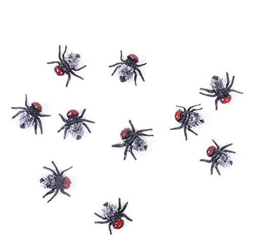 10x Fake Fly 4 Neuheit Fliegen Bugs Home Party Halloween Decor Look real-scary Fly (Improvement Halloween-party Home)