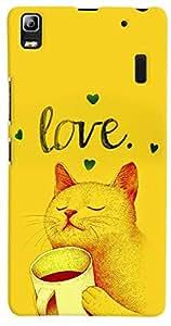 PrintVisa 3D-LK3N-D7699 Cartoon Kitty Love Case Cover for Lenovo K3 Note