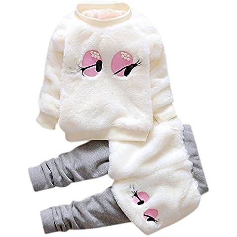 ZARU Los bebés de la historieta de la piel del invierno ropa gruesa caliente (la capa + pantalones)