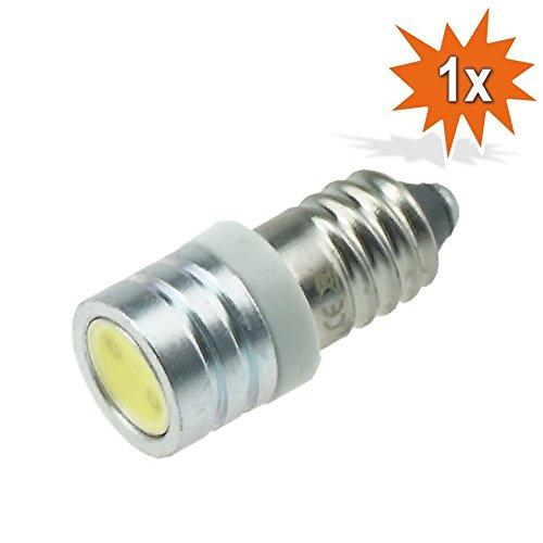 Preisvergleich Produktbild Do!LED SMD LED COB E10 Lampe Schraubgewinde 6V Volt Xenon Weiss Weiß Taschenlampe
