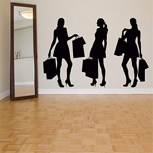 wandaufkleber 3d mond Shopping Girls Fashion für die Mall Hintergrund Wohnzimmer Beauty Salon Decor